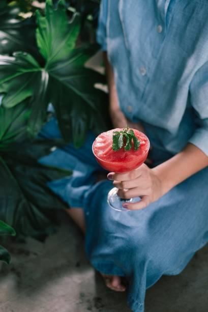 Margarita congelada: criação de Alexandre D'Agostino, o drinque leva melancia, limão, tequila e licor de laranja