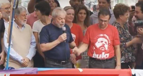 Lula discursa no sindicato Reprodução TVT