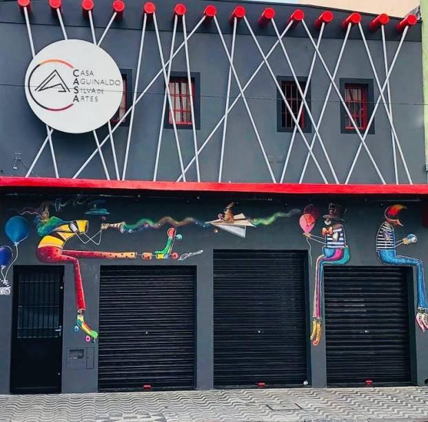 O centro cultural na Rua Major Sertório