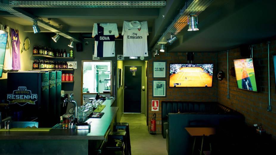 Resenha Sports Bar: com temática esportiva, bar abriu em setembro de 2017 no Tatuapé