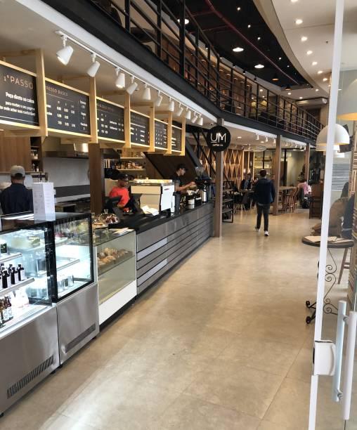 Ambiente do novo Um Coffee Co.: em Pinheiros, no térreo do conjunto Thera Faria Lima