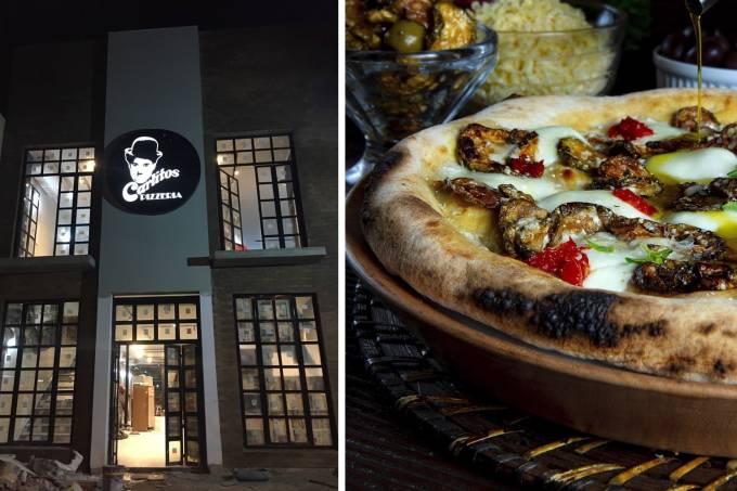 ambiente e pizza Carlitos