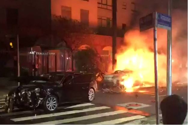 Acidente BMW e Audi