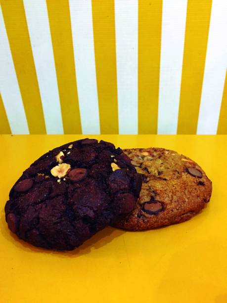 Cookies veganos: cacau ou baunilha
