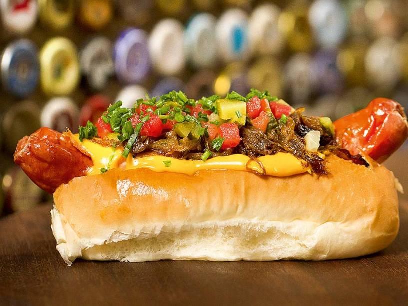 Dane's dog: leva bacon enrolado na salsicha frankfurt