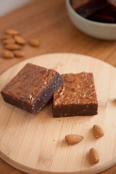 Guloseimas na Fazemos Pão Padaria Artesanal: brownie de Nutella equilibrado