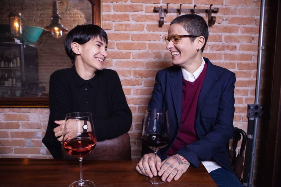As sommelières: Cassia Campos e Daniela Bravin são responsáveis pelos vinhos e pelo serviço do Sede261