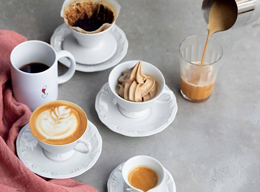 O melhor café: no Coffee Lab, campeão na categoria por Veja COMER & BEBER 2018, a bebida pode ser gelada, coada e até virar sorvete