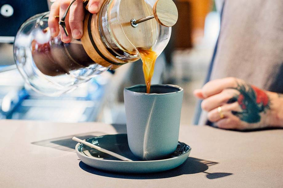 Cafés extraídos em métodos como a prensa francesa
