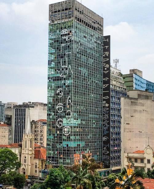 A antiga Companhiade Vidros do Brasil,no Paissandu:tombada em 1992 ecom quinze anos deabandono do governofederal, desabou em1º de maio de 2018