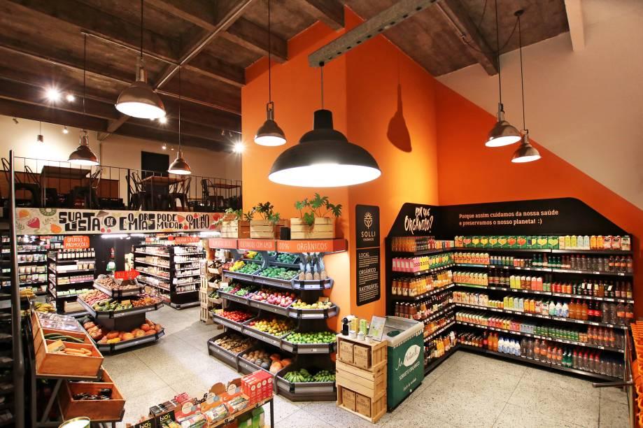Variedade de produtos orgânicos