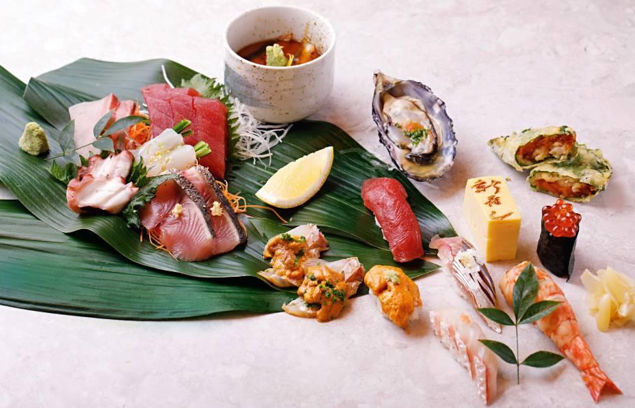 Uma seleção da culinária japonesa fria no Shin-Zushi: eleito o melhor japonês por Veja COMER & BEBER 2018