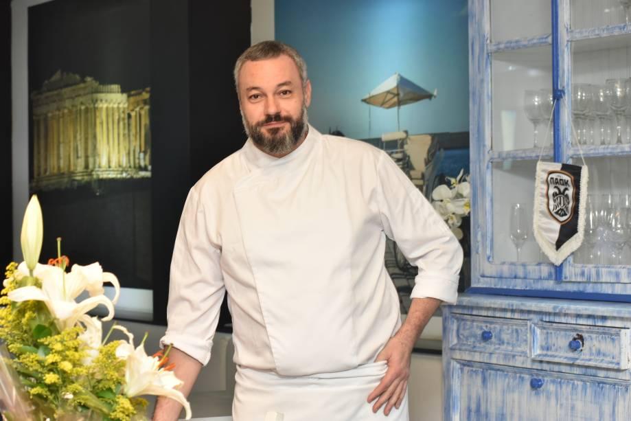 O chef: Christos Archestratos, nascido na Ilha de Creta, na Grécia