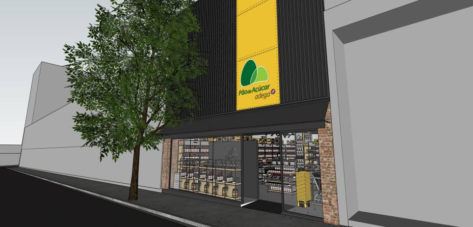 Projeção da fachada: na Rua Augusta, o espaço será dedicado às bebidas