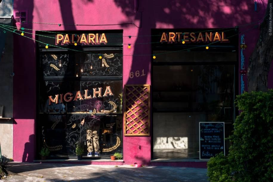 A fachada da padaria, na Vila Mariana