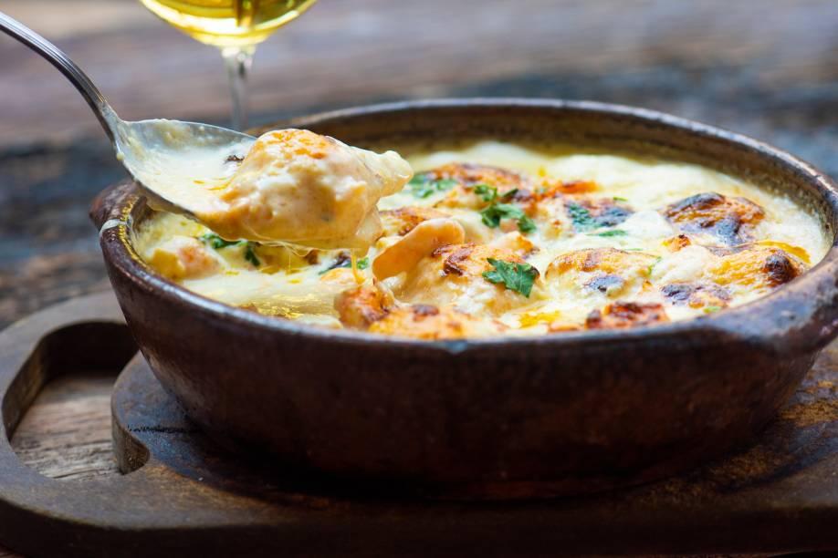 Prato de sucesso: conchiglie de camarão e queijos