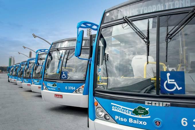 Ônibus integrados à frota da prefeitura de São Paulo em 2011.