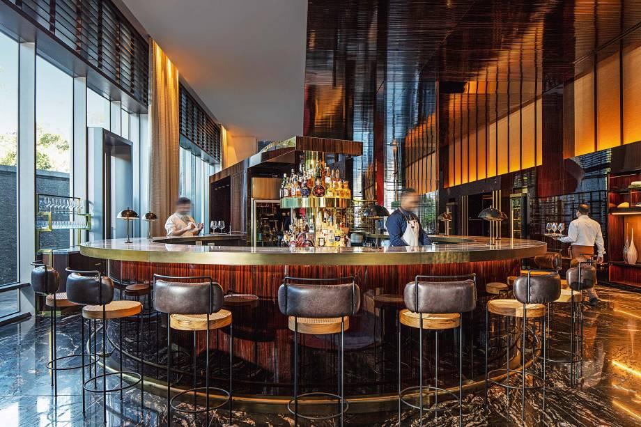 Caju SP: bar no lobby do requintado Hotel Four Seasons