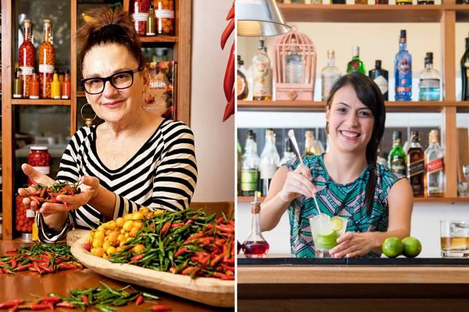Mara Salles e Nina Bastos