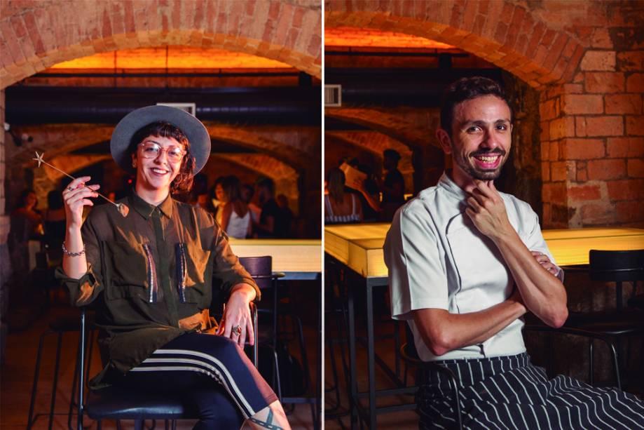 Chula e Rodrigo Augusto: chef de bar e da cozinha, respectivamente