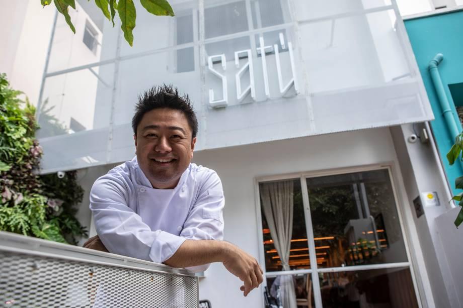 Flávio Miyamura: o chef, que sempre investiu em toques asiáticos, mostra a sua versão do Brasil no Satú