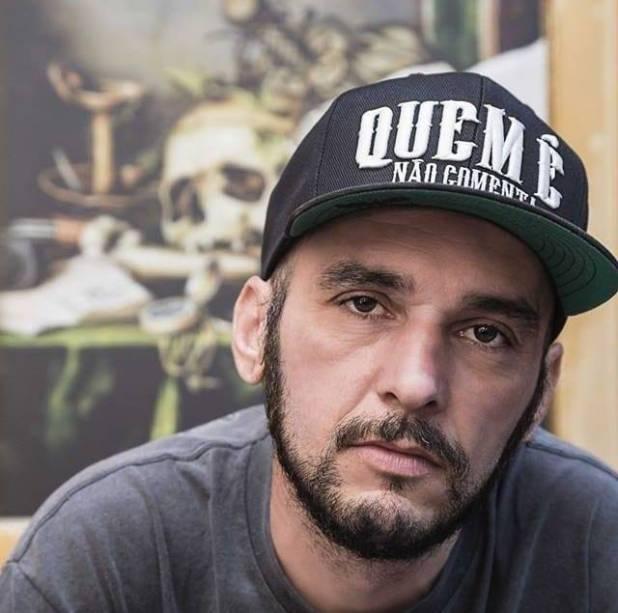 O tatuador Eduardo Lozano, de 47 anos