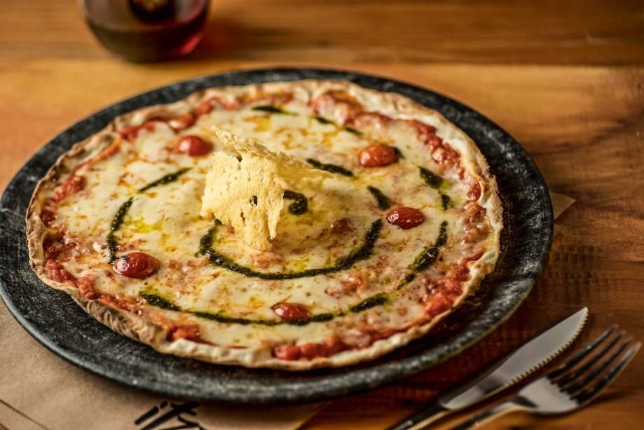 Margheritzza:mussarela, queijo semlactose ou vegano