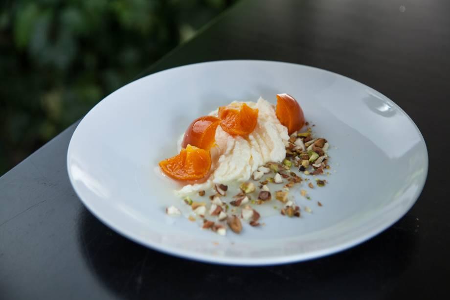 Compota de tangerina com ricota