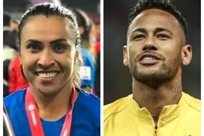 Marta e Neymar