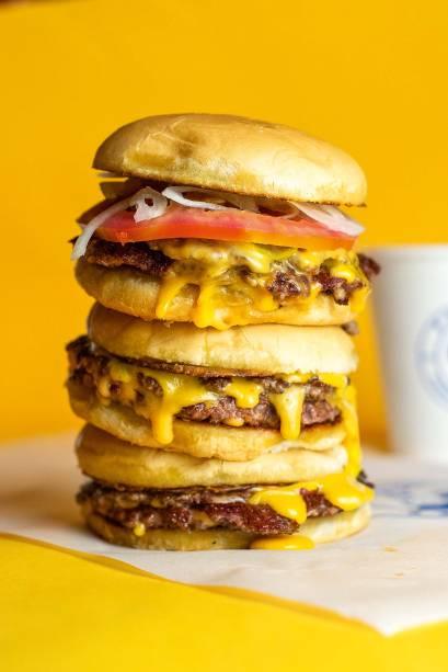 Hambúrgueres da marca: todos levam dois discos de 40 gramas cada
