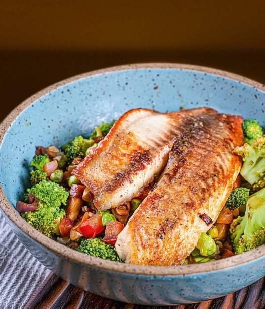 Mix de legumes: tilápia pode acomapnhar