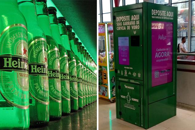maquina cerveja heineken reciclagem dinheiro