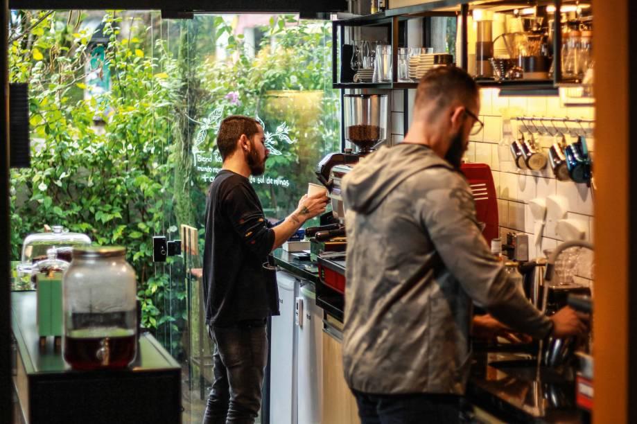 O ambiente da cafeteria: dentro de um espaço compartilhado no Beto do Batman