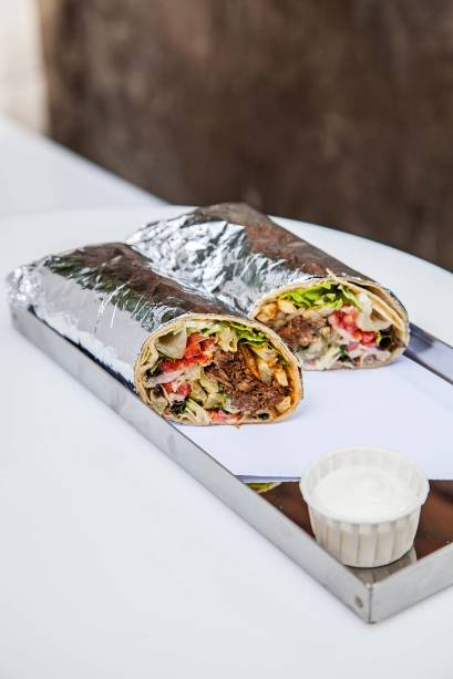 Kebab de costela: um dos sabores fixos do menu