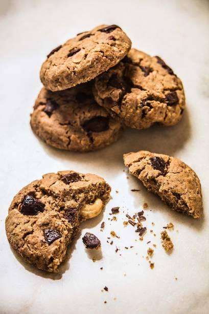 Cookie: com gotas de chocolate