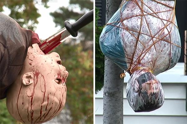 decoração bizarra halloween
