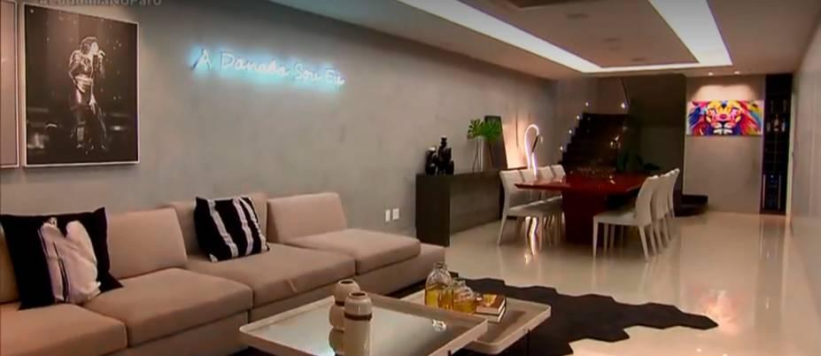 A sala de estar da artista
