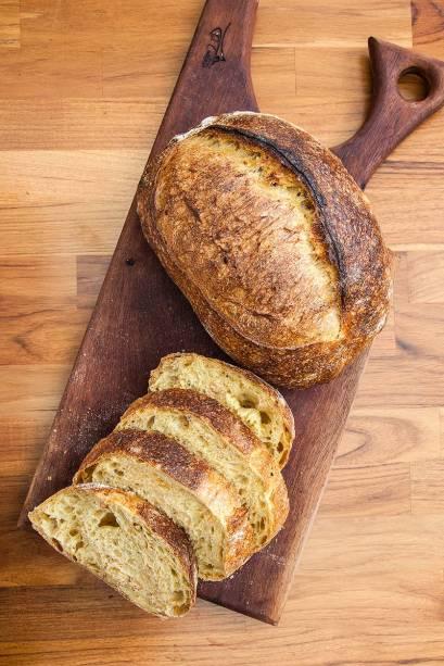 Pão de abóbora tostada: leva avelãs