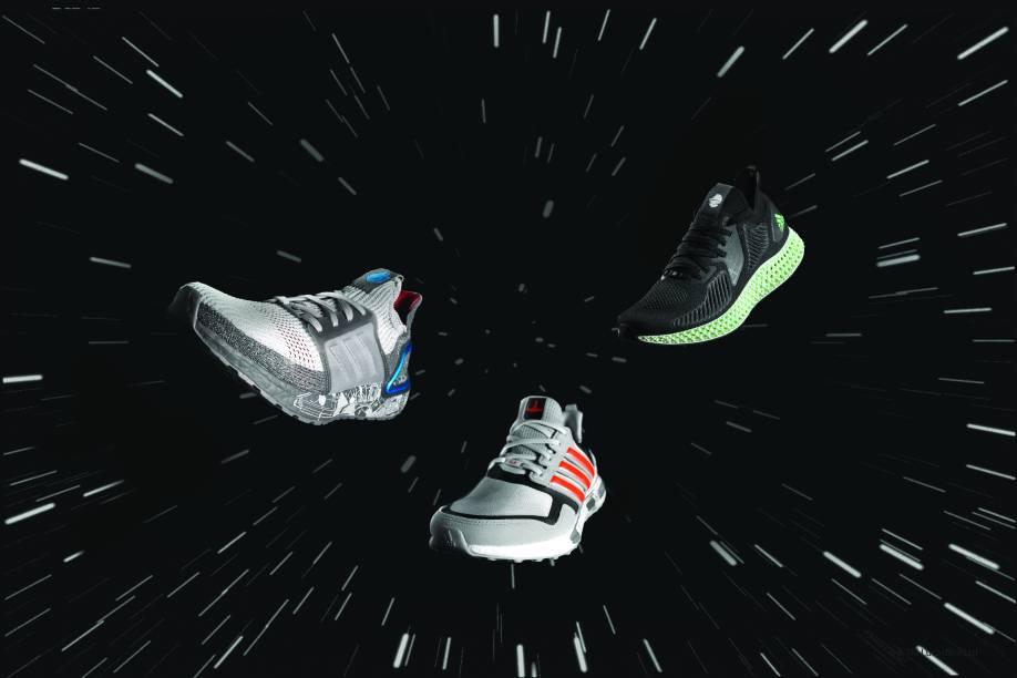 Os três modelos da Adidas: homenagem para Star Wars