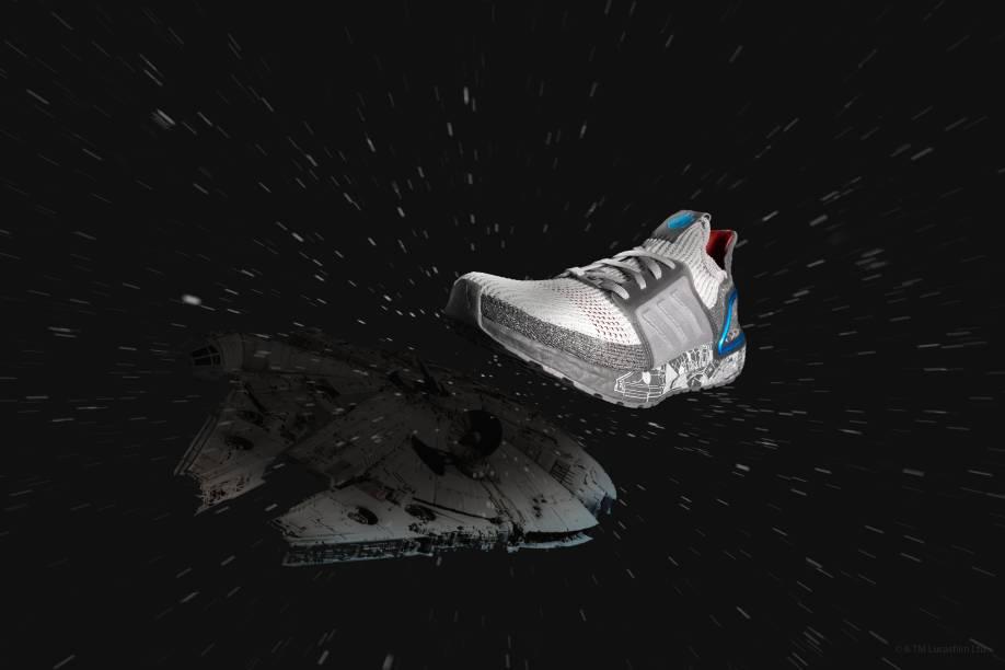 O ultraboost 19: homenagem para a Millennium Falcon