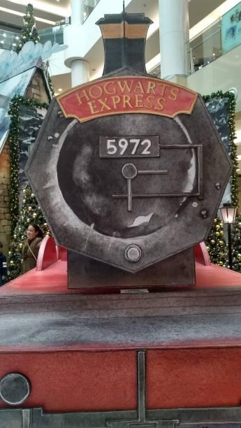 O Expresso Hogwarts, no Shopping Metrô Tatuapé: efeitos sonoros e fumaça cênica