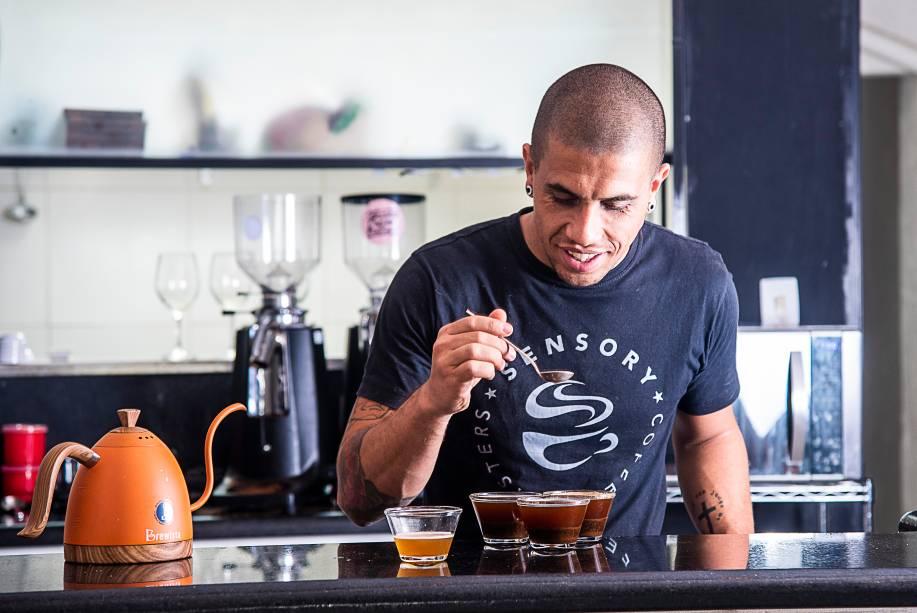 Thiago Sabino: à frente do Sensory Coffee Roasters