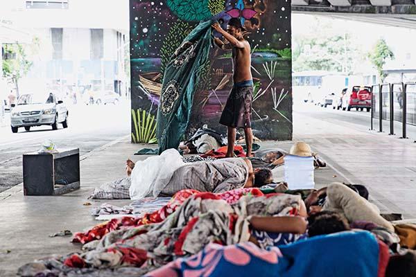 São Paulo, SP 26/03/2018 MORADORES DE RUA – Foto: Leo Martins