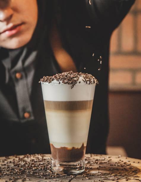 Café com ganache: leva granulado por cima