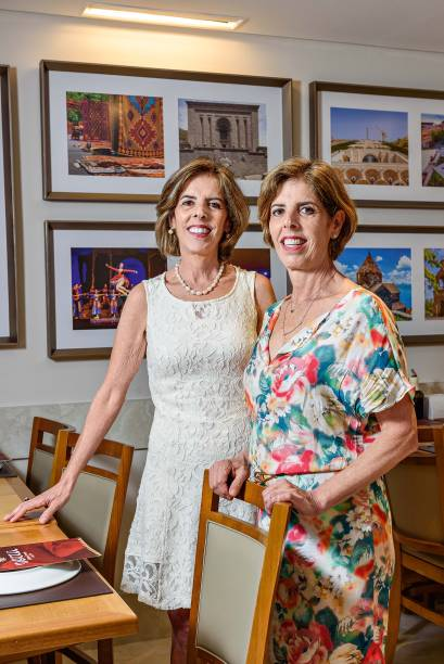 As irmãs Maria Cristina e Maria Helena: negócio familiar