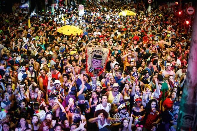Foliões do Baixo Augusta carnaval
