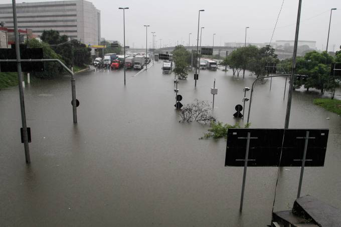 Flooding In The City Of Sao Paulo