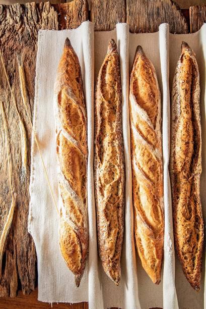 Baguetes: tradicional e multigrãos