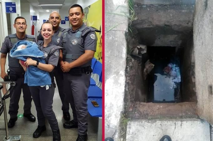 Policia Militar bebe