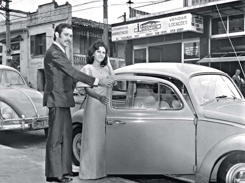 Na década de 70: casamento aconteceu dois anos depois do pedido de namoro